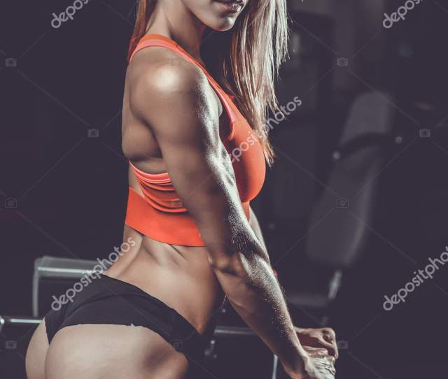 Pretty Fitness Sexy Model Luxury Ass Fat Burning Concept Stock Photo