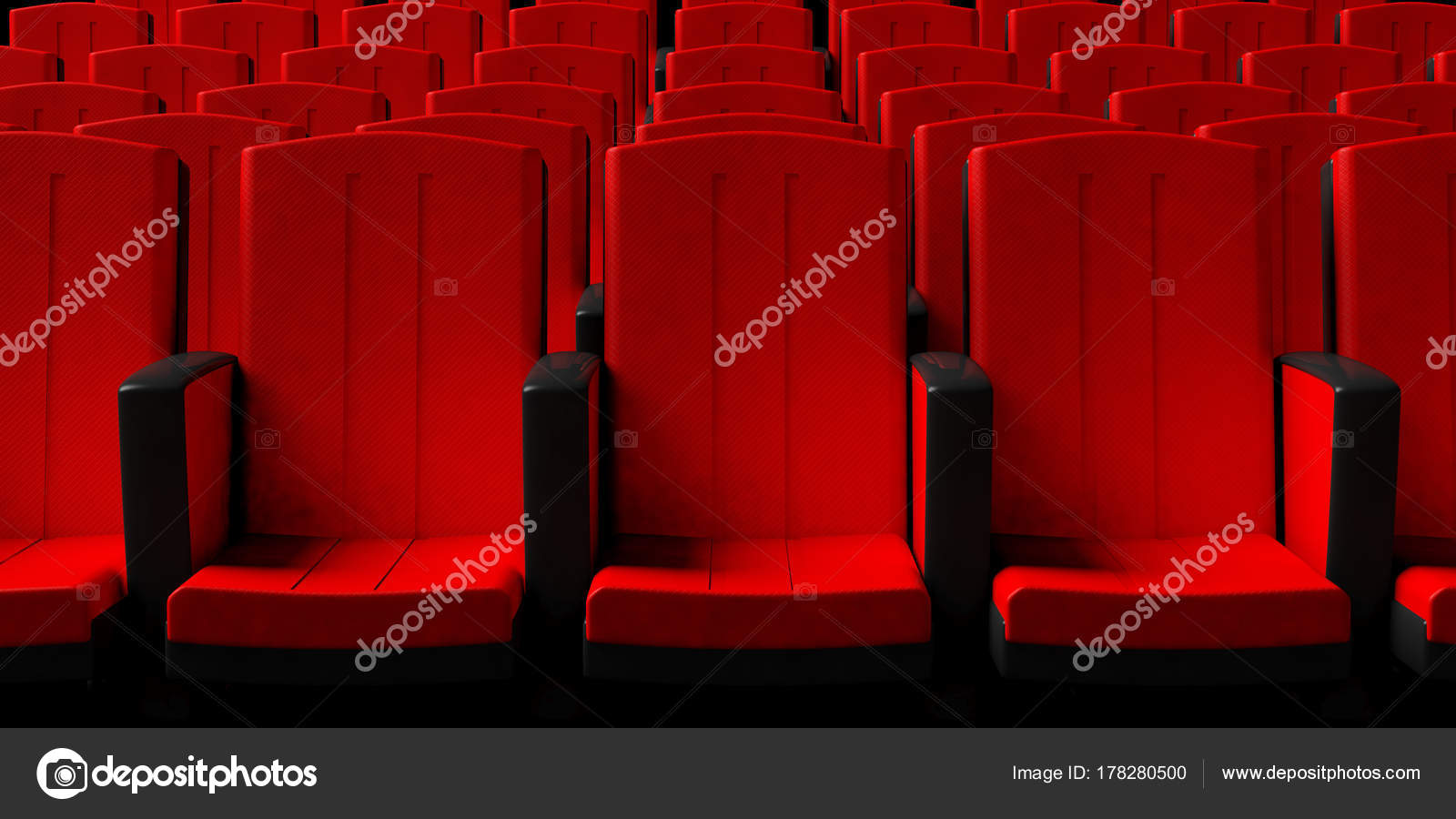 Cinema Chairs Background Front View 3d Illustration Stock Photo C Gioiak2 178280500