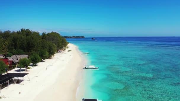 Island Resort Viewed Drone Tropical Nature Bali Indonesia Stok Video C Motionworksfilmstudio 377223652