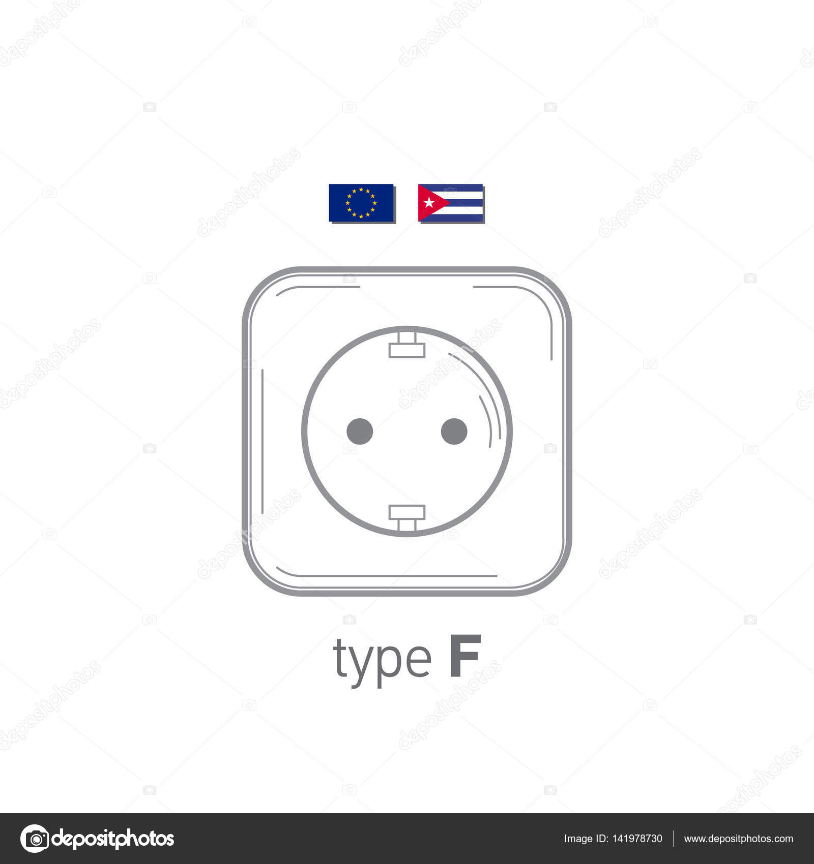 Sockets Icon Type F Ac Power Sockets Realistic
