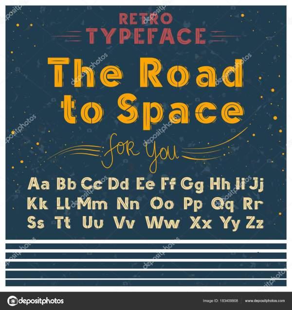 Ретро плакат шрифта векторные иллюстрации старая гранж ...