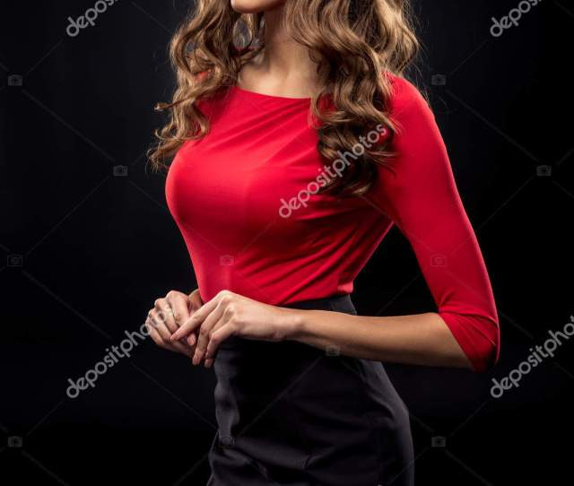 Gorgeous Brunette Woman Stock Photo