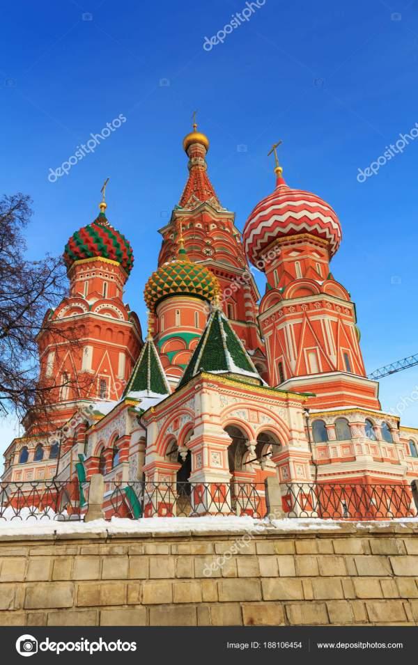 Собор Василия Блаженного на Красной площади в Москве на ...