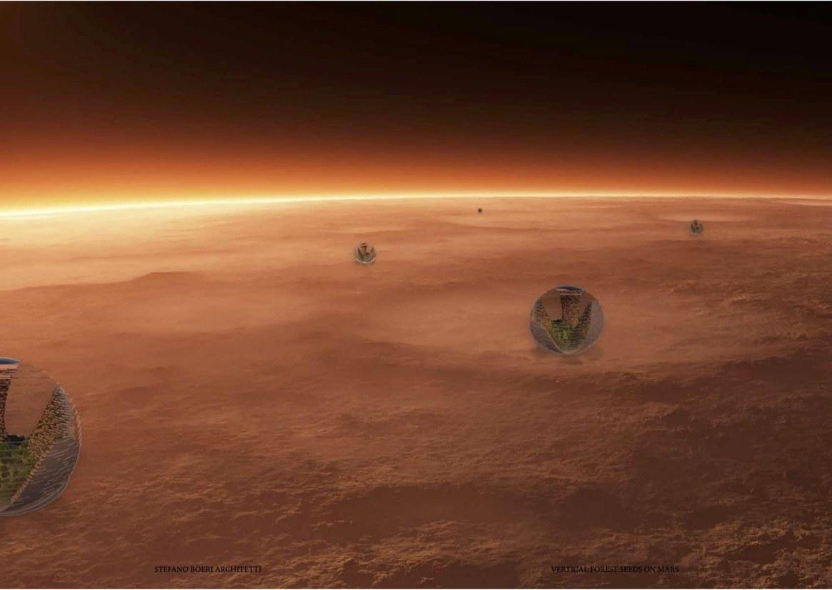 Una nave soltará las cúpulas para que crezcan en Marte
