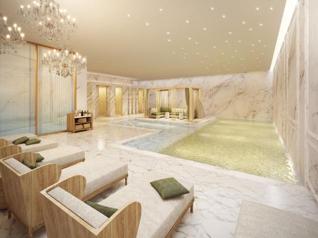 Un gran espacio con piscina, masajes y tratamientos
