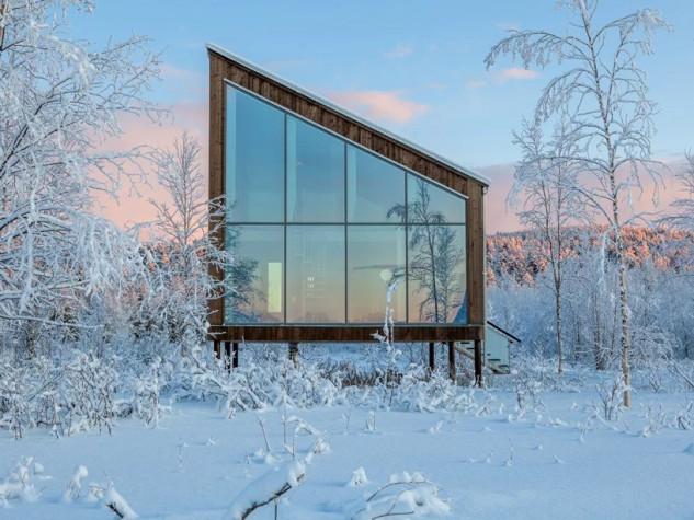 Una de las cabañas en tierra / Arctic Bath/Anders Blomqvist/Pasquale Baseotto/Johan Jansson