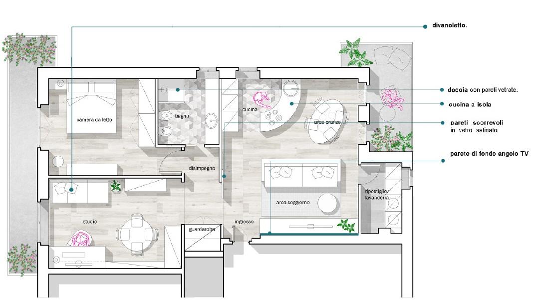 La soluzione 1 introduce quale. Distribuzione Spazi Interni Appartamento Idealista News