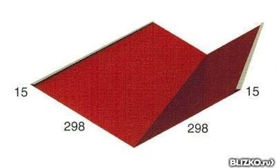 Планка ендовы нижняя, 298х298х2000 мм 3011 от компании ...
