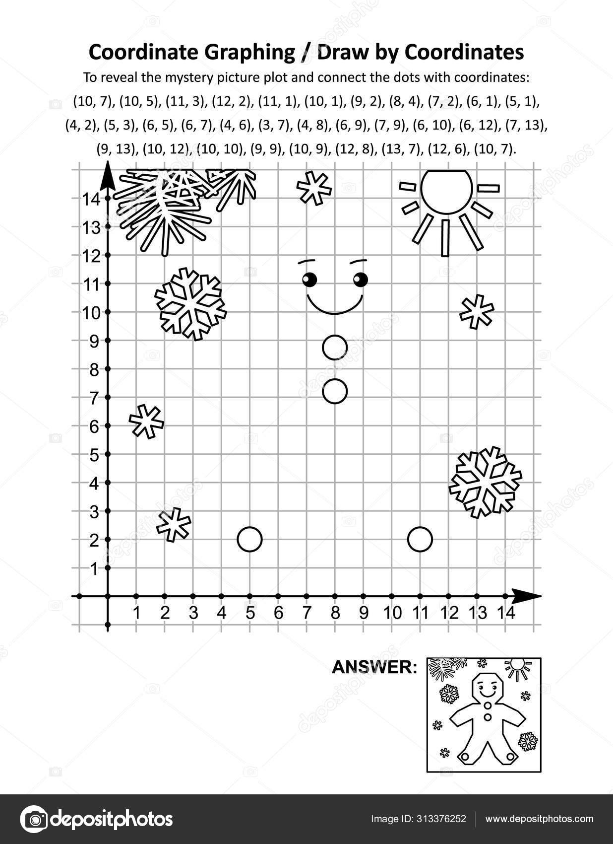 Coordinate Graphing Draw Coordinates Math Worksheet