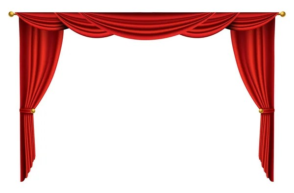 red curtains realistic theater fabric