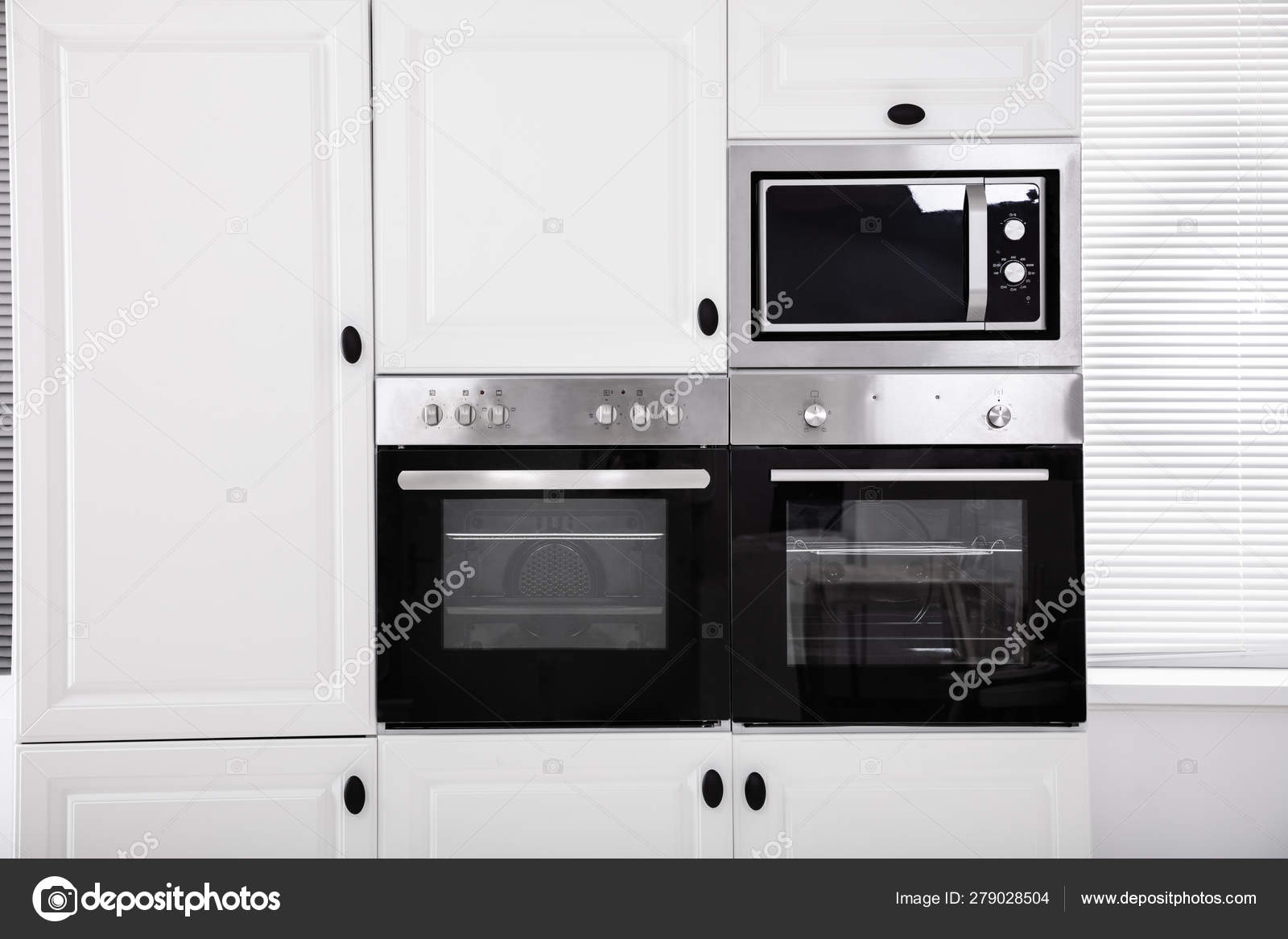 modern luxury kitchen built electric ovens cabinet stock photo image by c andreypopov 279028504