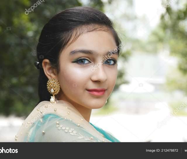 Young Beautiful Pakistan Girl Stock Photo