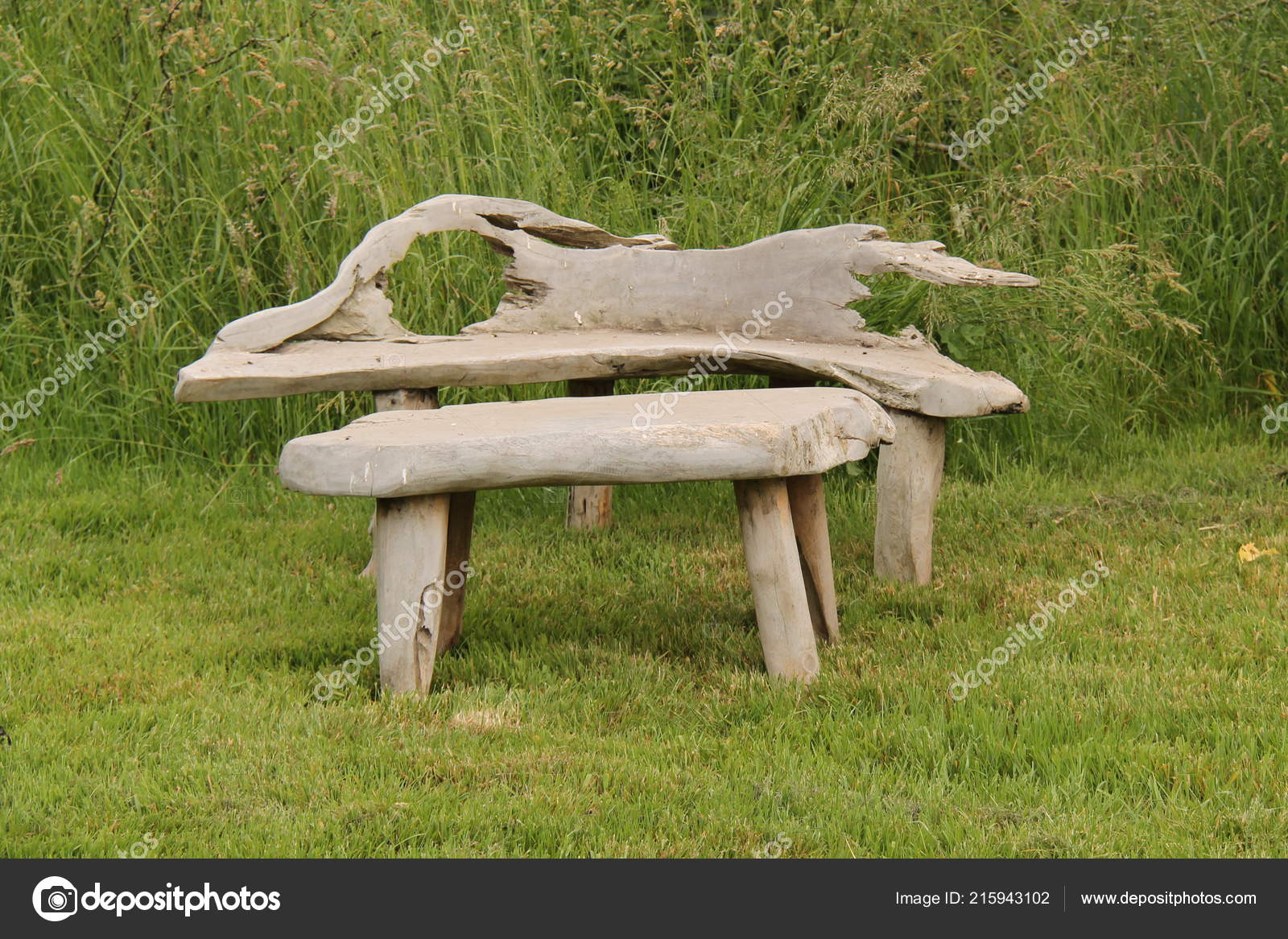 https depositphotos com 215943102 stock photo rustic wooden outdoor bench small html