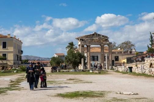 Ágora romana de Atenas. — Foto editorial de stock © milangonda ...