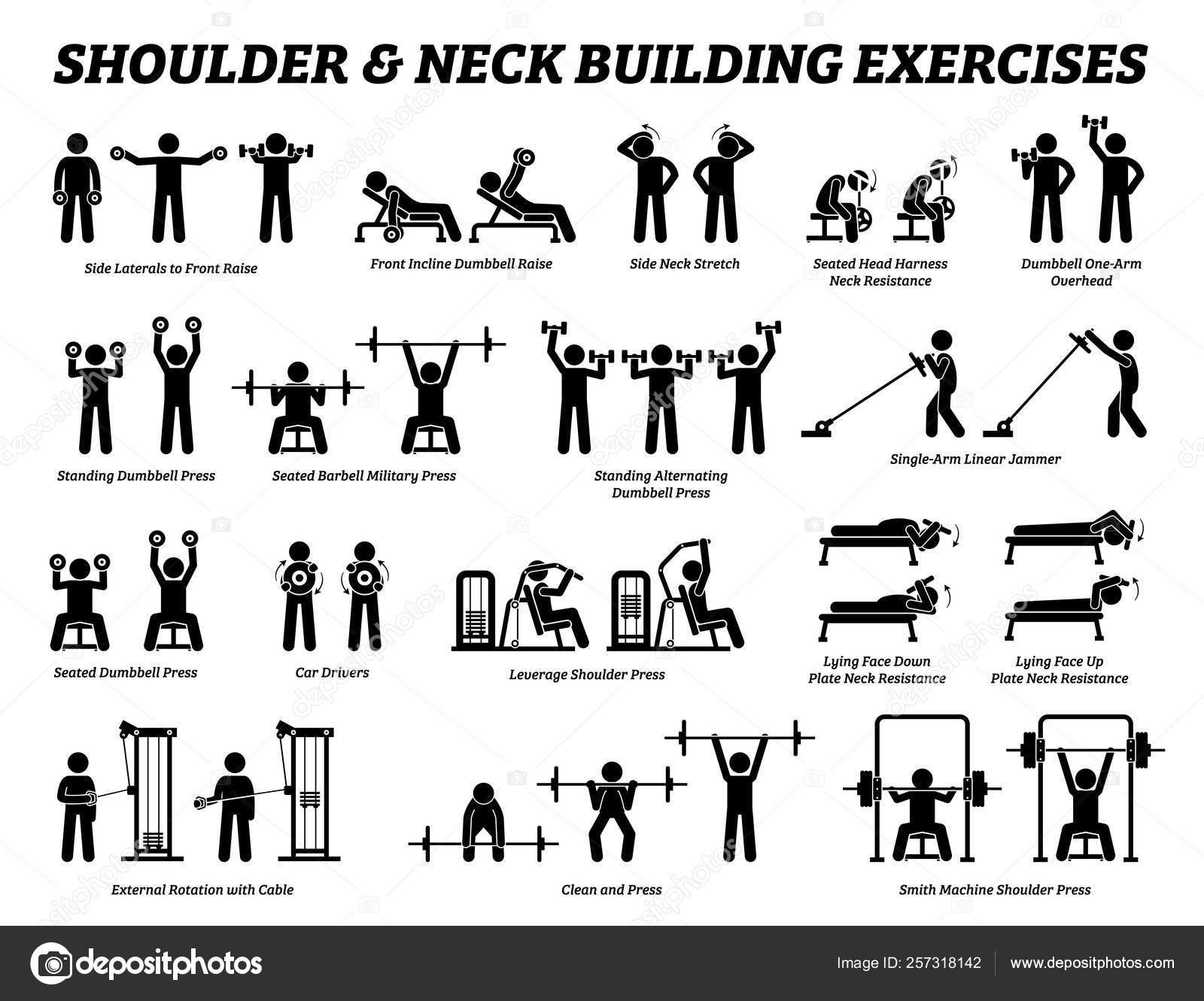 Shoulder Neck Building Exercise Muscle Building Stick