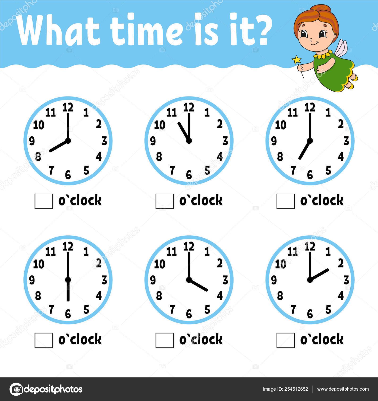 Tiempo En El Reloj De Aprendizaje Hoja De Actividad