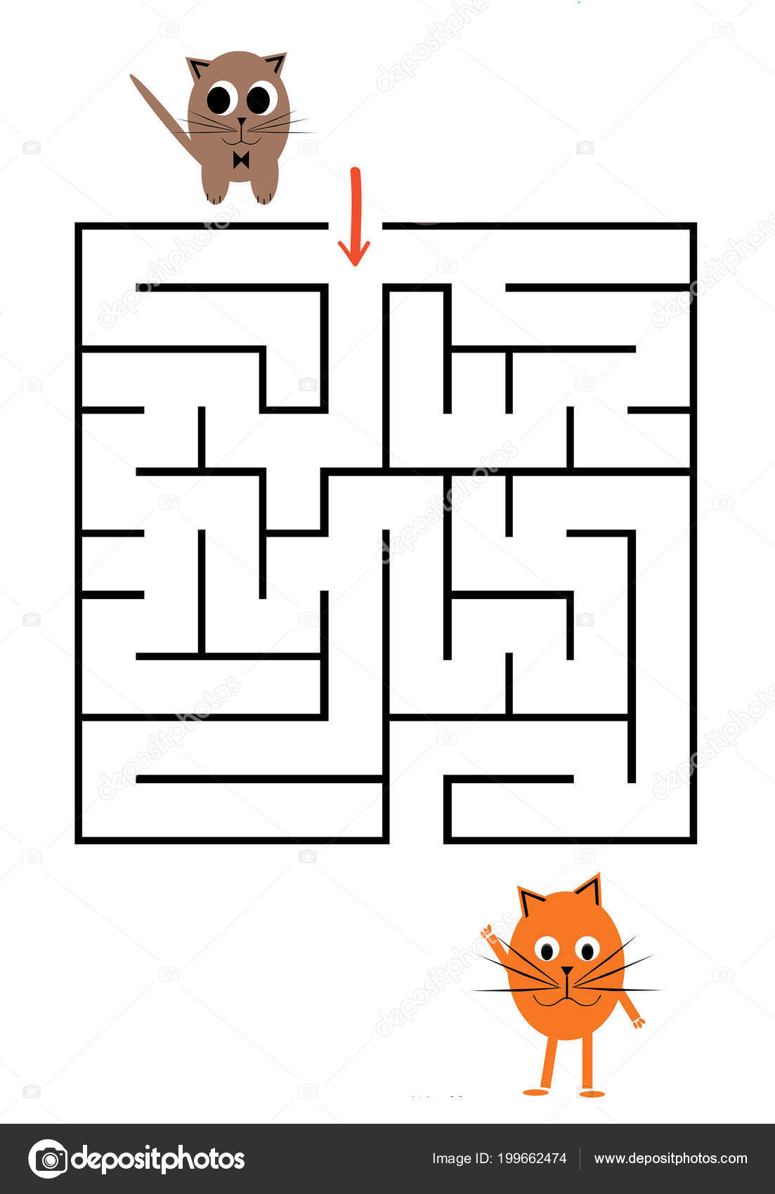 Funny Maze Game Preschool Children