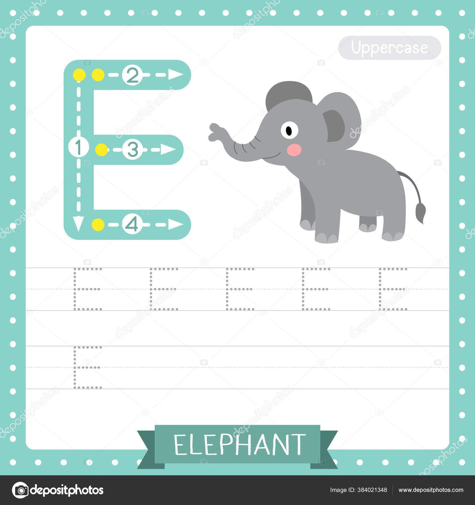 Huruf Uppercase Cute Children Colorful Zoo Animals Abc