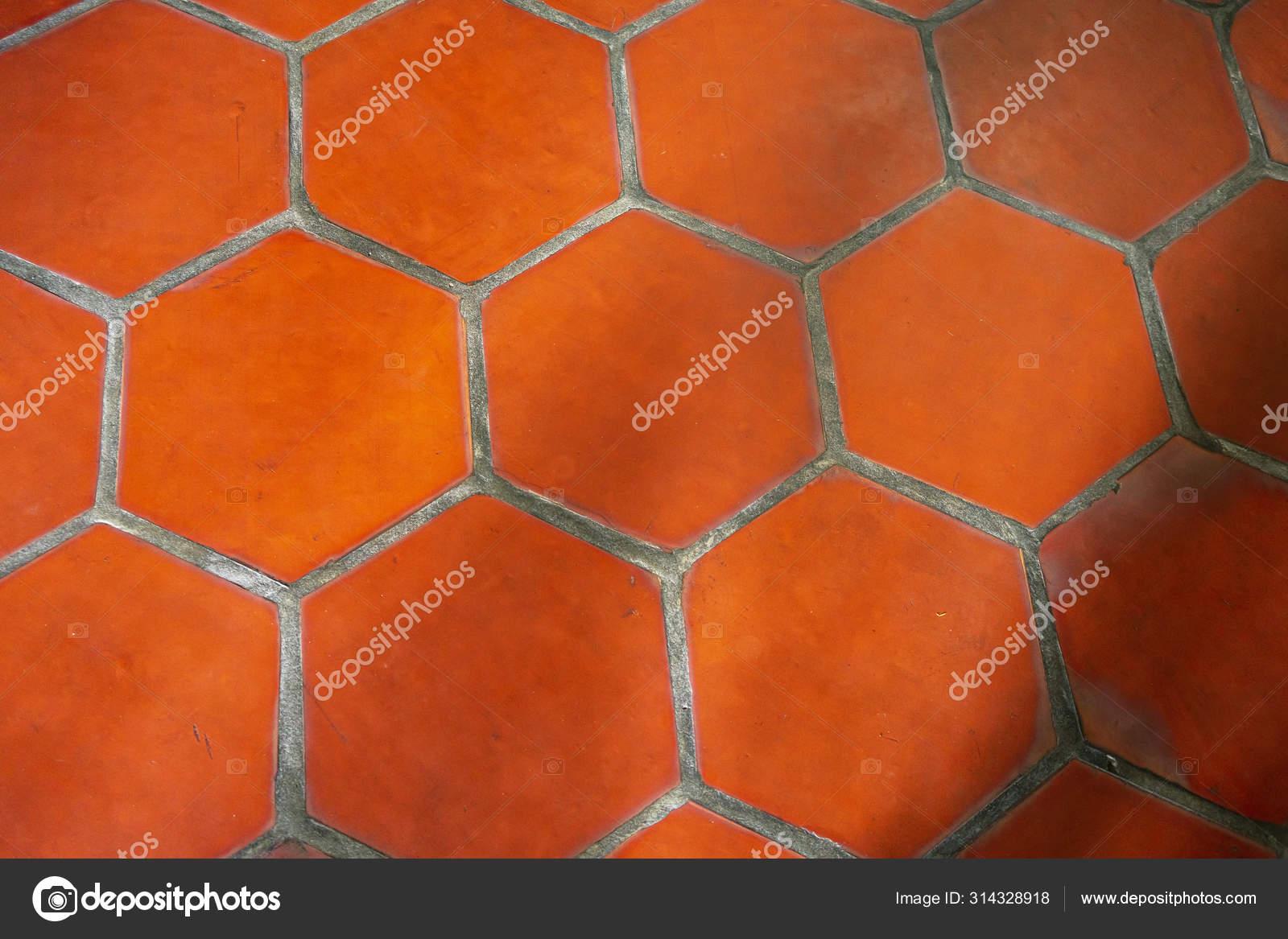 https depositphotos com 314328918 stock photo red hexagon terracotta tile outdoors html