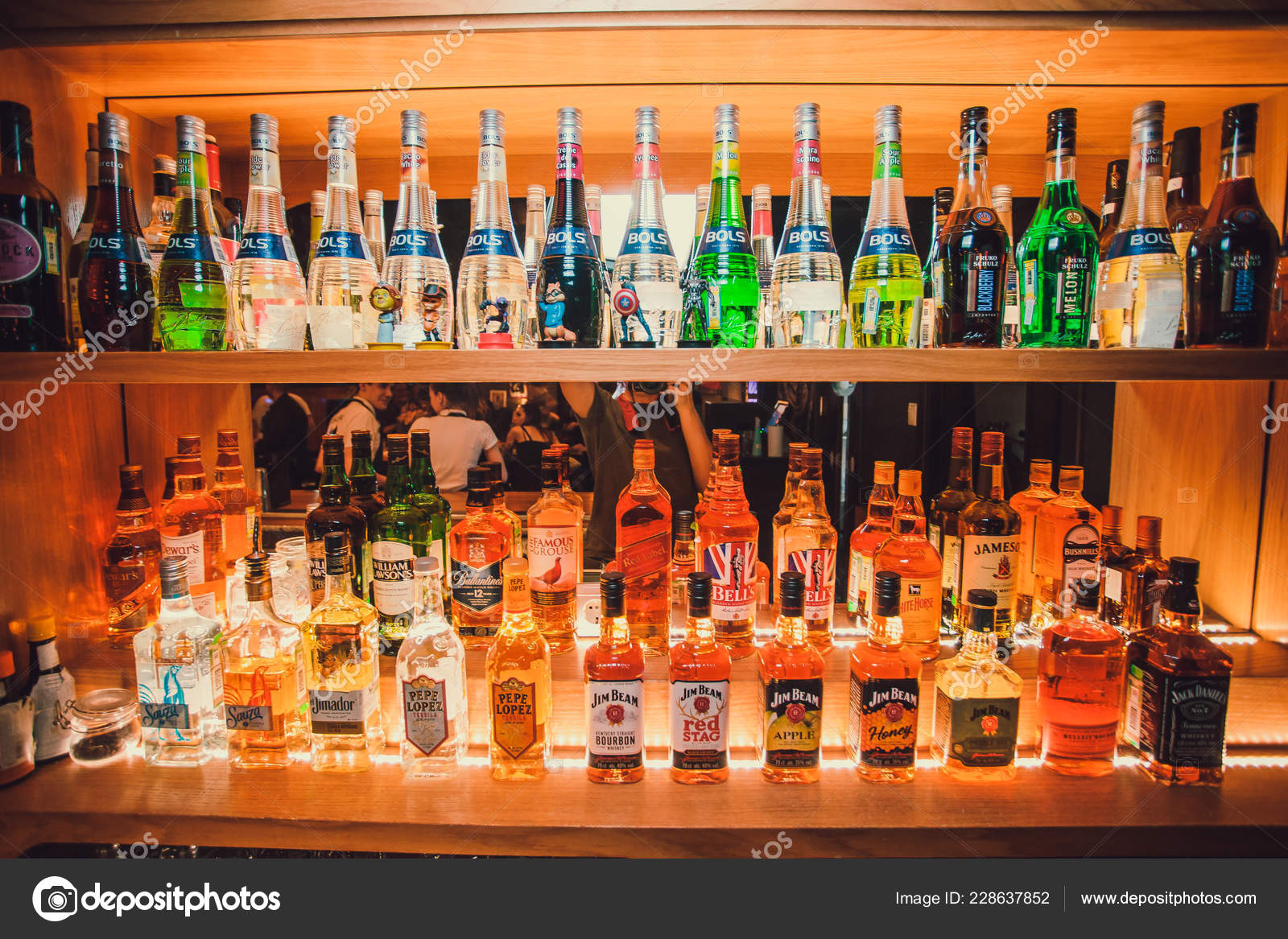 Ufa Russia Darling Bar 20 November 2018 Various Alcohol