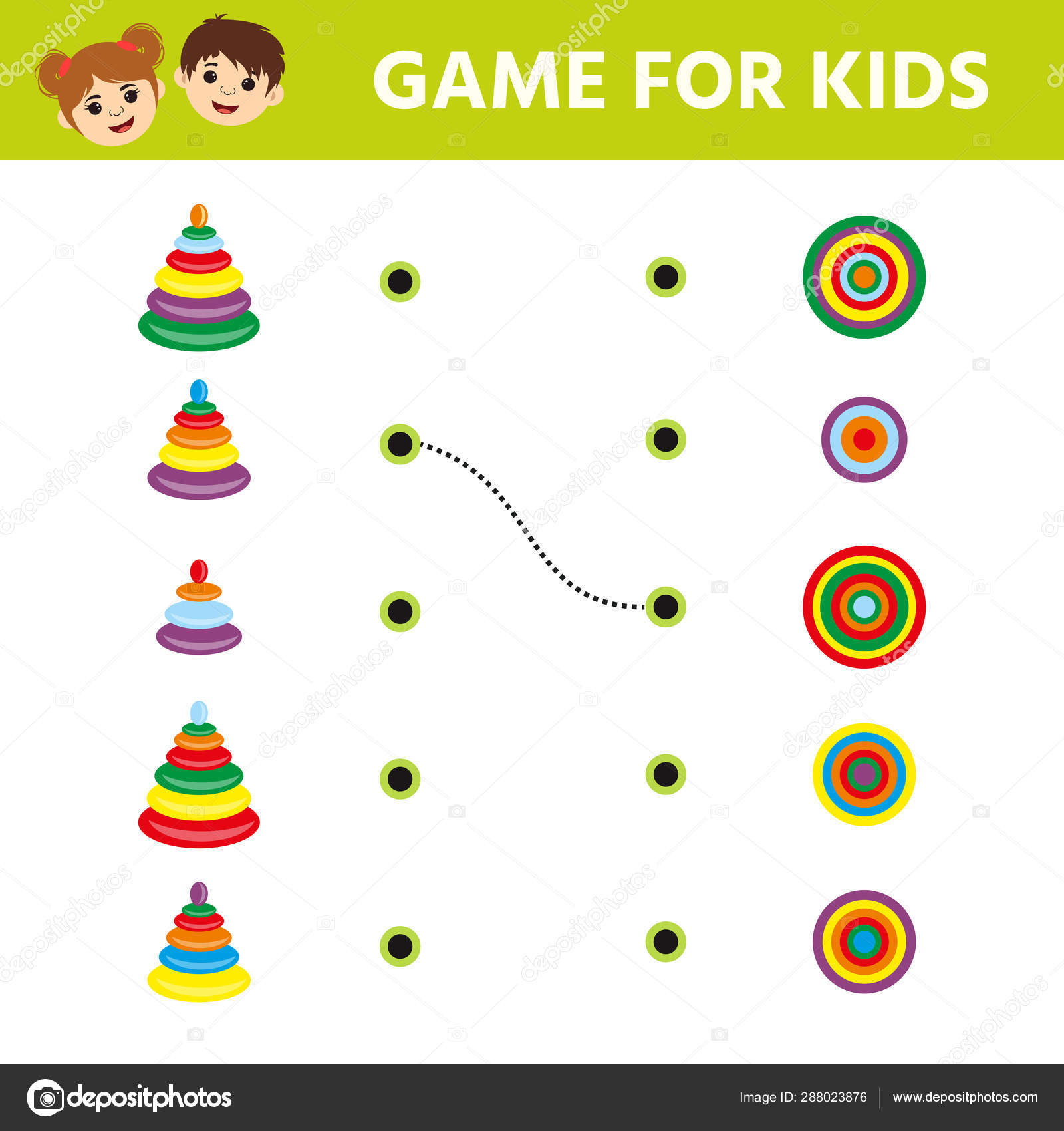 Game Tasks For Kids For Attention Worksheet With Puzzle
