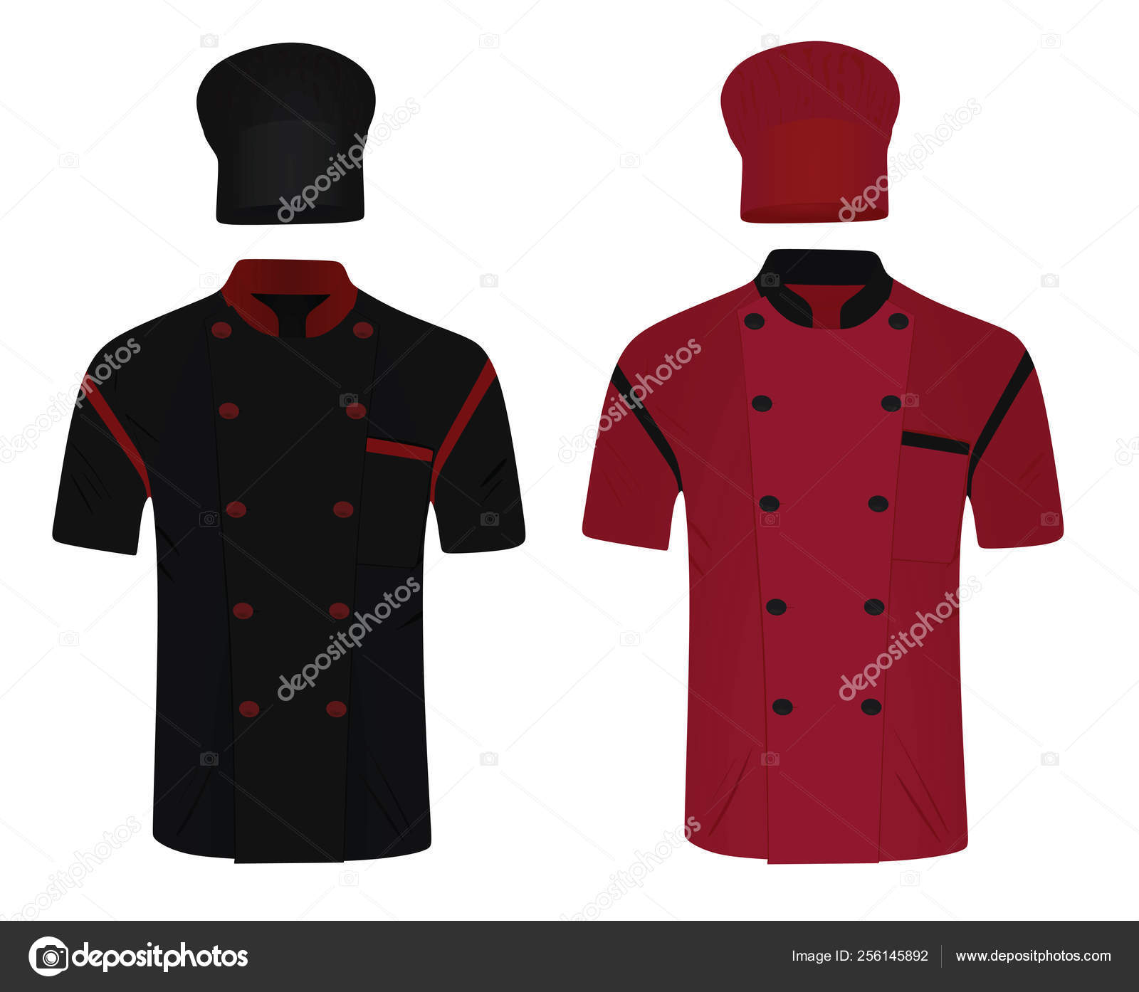 Find download free graphic resources for chef uniform. Chef Uniform Shirt Hat Vector Illustration Stock Vector Image By C Marijamara 256145892