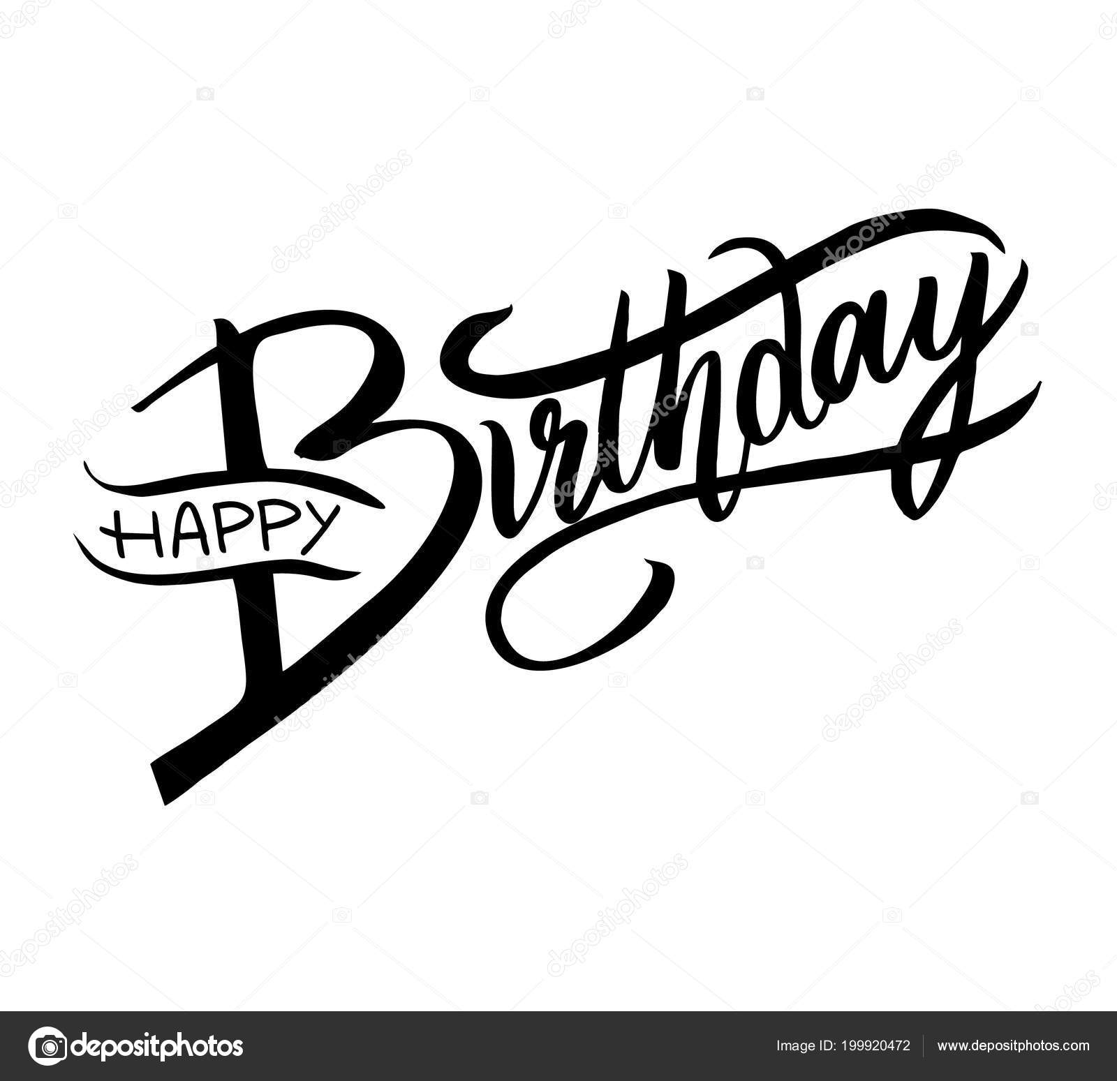 Happy Birthday Typography Vector Design Greeting Cards
