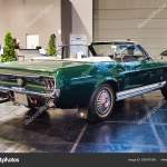 Friedrichshafen May 2019 Emerald Dark Green Ford Mustang T5 Gt Rally 1966 Cabrio At Motorworld Classics Bodensee On May 11 2019 In Friedrichshafen Germany Stock Editorial Photo C Eagle2308 285787596