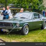 Baden Baden Germany July 2019 Dark Green Ford Mustang Convertible First Generation 1964 1973 Oldtimer Meeting In Kurpark Stock Editorial Photo C Eagle2308 314962358