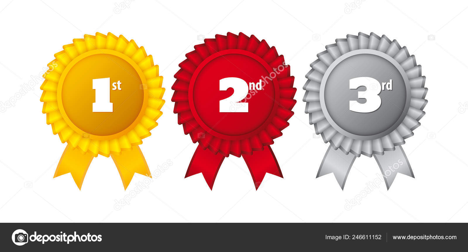 Vector First Place Ribbons Image