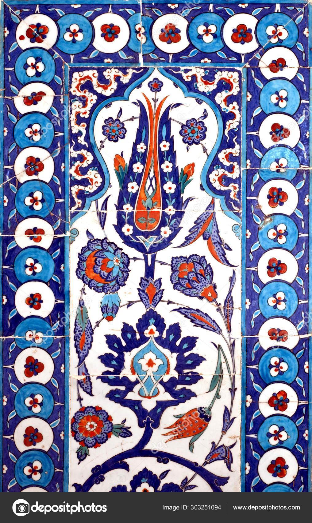 iznik tile ancient ottoman era tiles were decorated master artisans stock photo image by c kuzeyliden 303251094