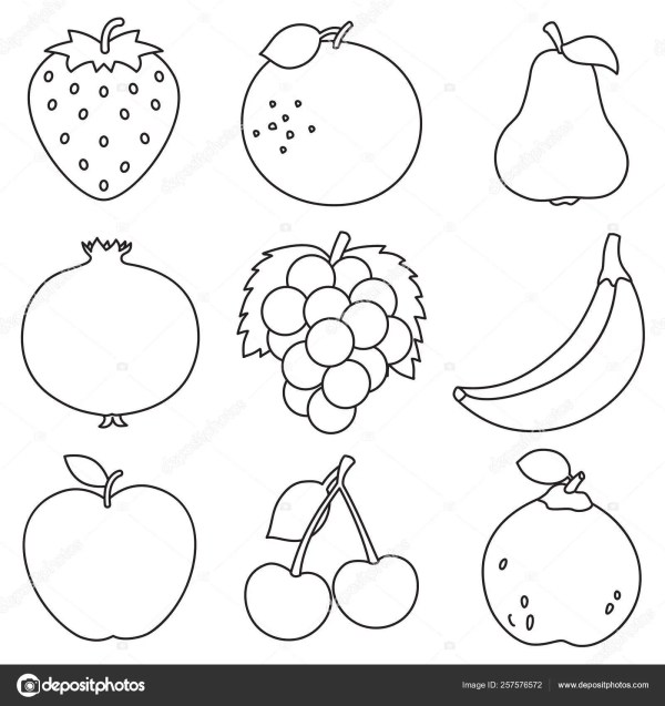 fruit coloring page # 5