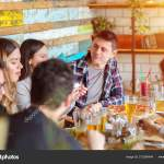 Happy Friends Group Drinking Beer Pub Restaurant Friendship Concept Young Stock Photo C Dan Rentea Yahoo Com 273399494