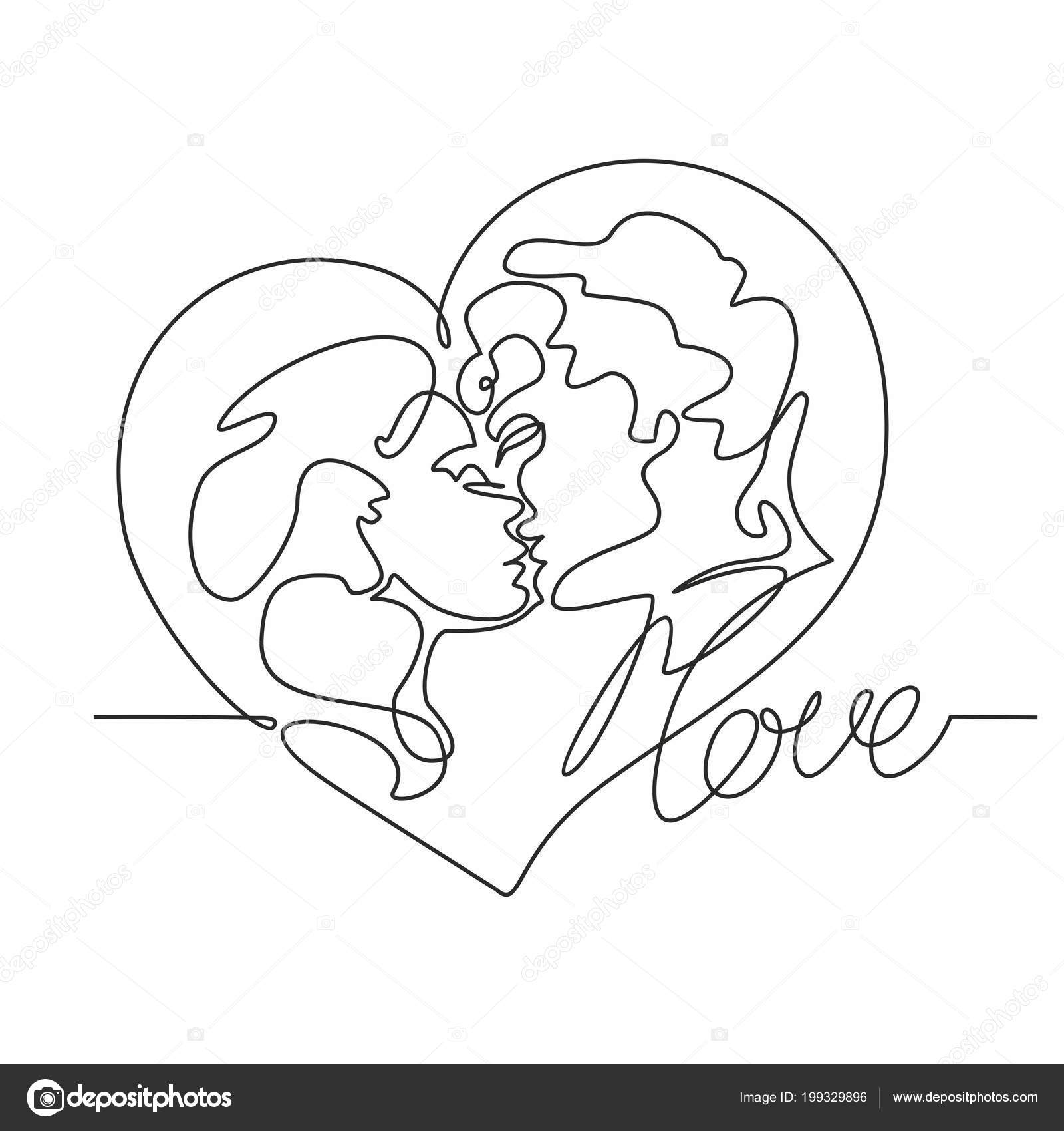 Kiss Drawing Sketch Amor Dibujos T Amor Por