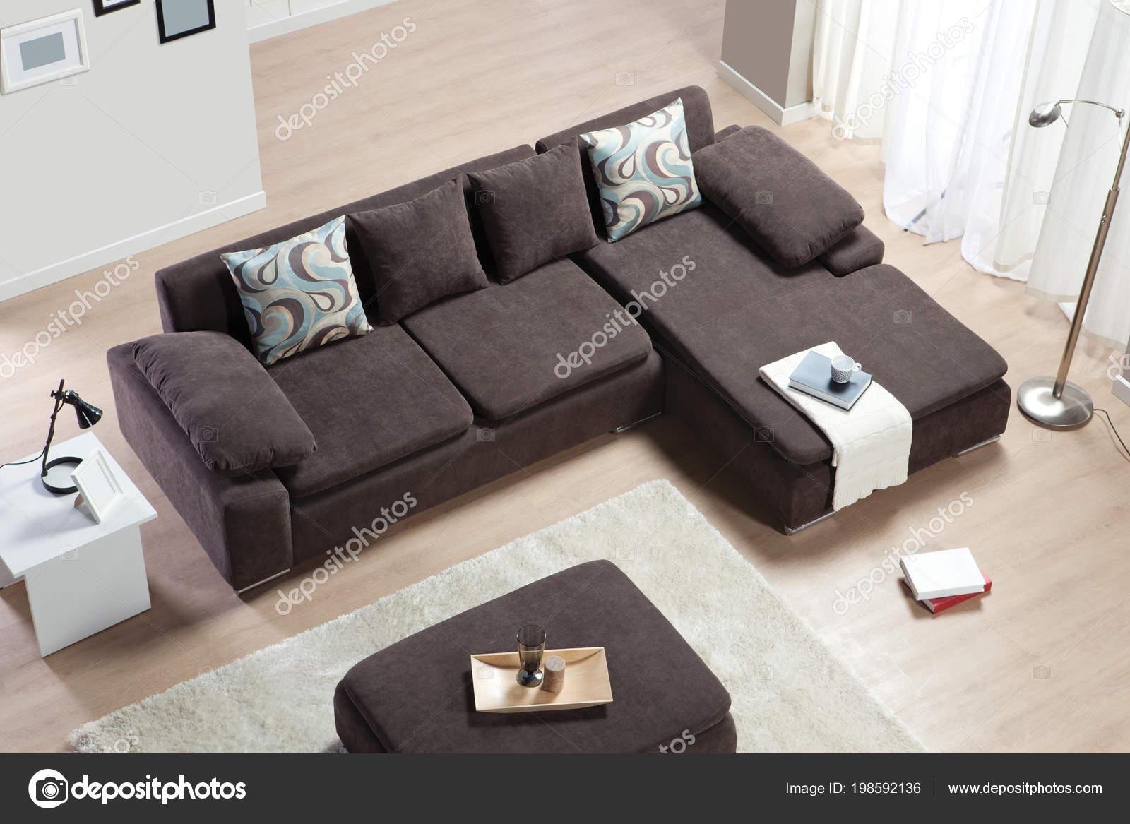 https depositphotos com 198592136 stock photo corner sofa interior top view html