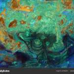 Abstract Green Blue Orange Marble Texture Acrylics Trendy Art Stock Photo C Fruitree Mail Ru 221682254
