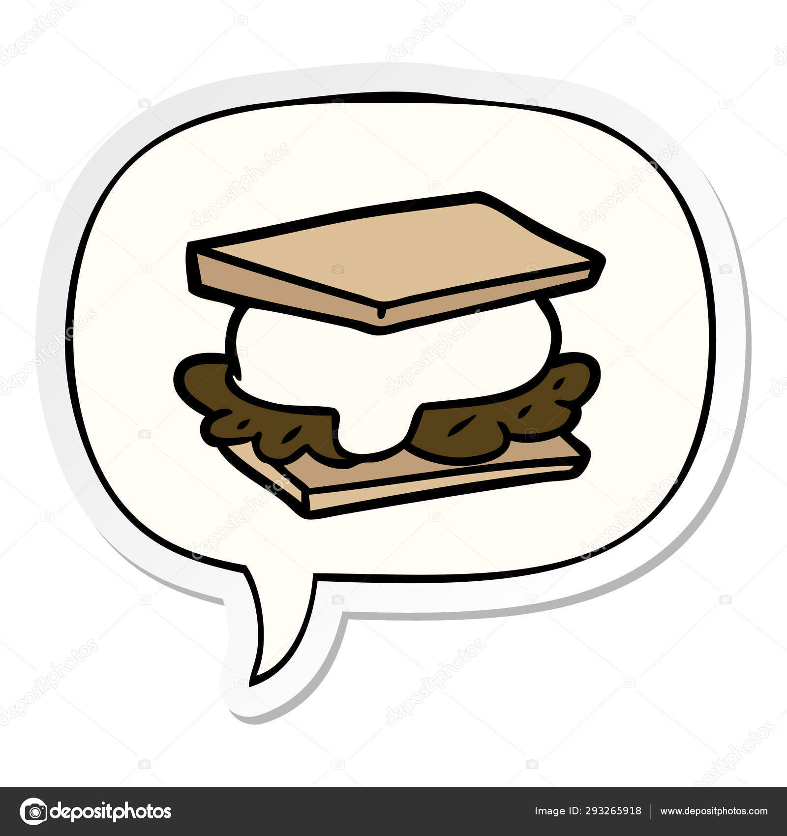 Áˆ Cookie Stock Animated Royalty Free Smore Cartoon Cliparts Download On Depositphotos