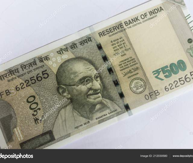 Srinagar Jammu Kashmir India Dated August 2018 Indian Currency 500 Stock Photo