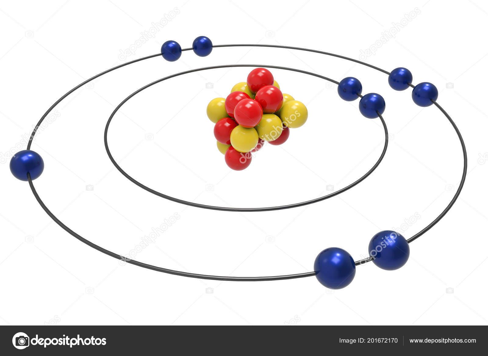 Bohr Model Fluorine Atom Proton Neutron Electron Science