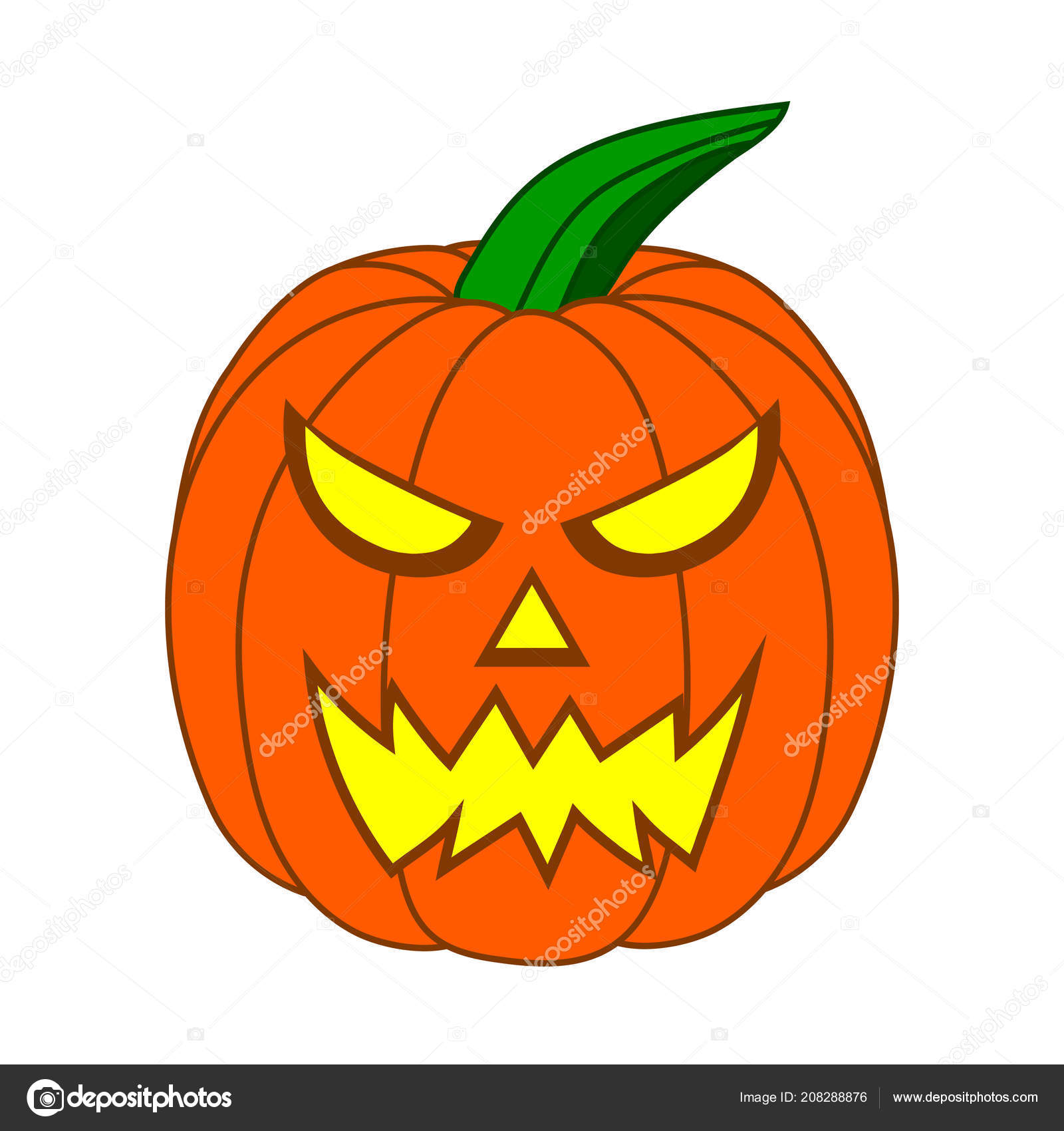 Halloween pumpkin head jack lantern made from plasticine. Scary Cartoon Halloween Pumpkin Funny Face Isolated White Background Your Stock Vector Image By C Alody 208288876