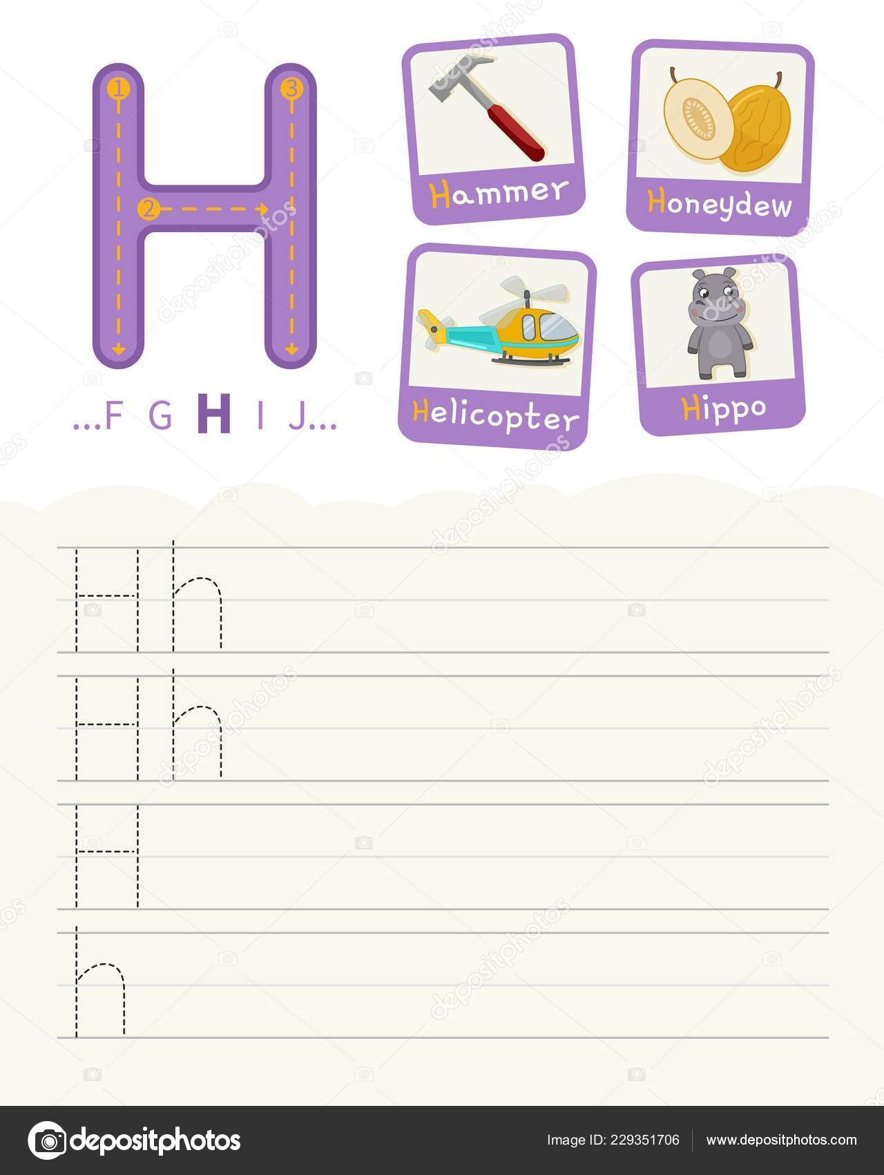 Handwriting Practice Sheet Basic Writing Educational Game