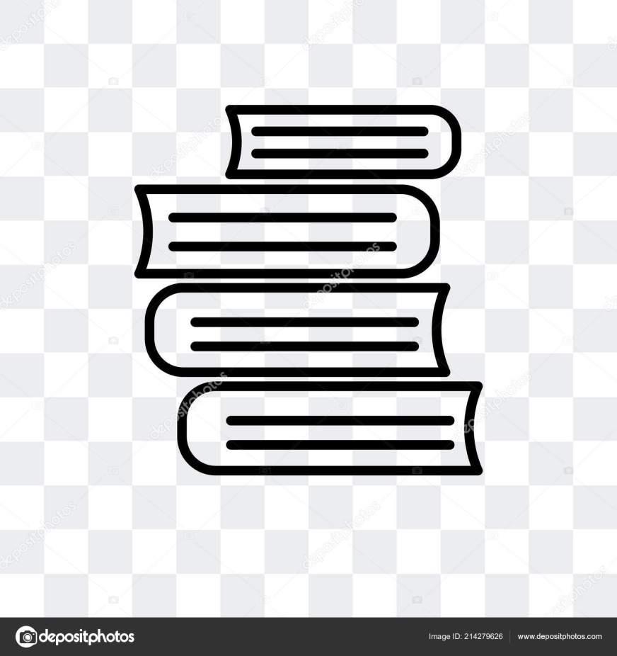 Icône de vecteur de livres isolé sur fond transparent ...