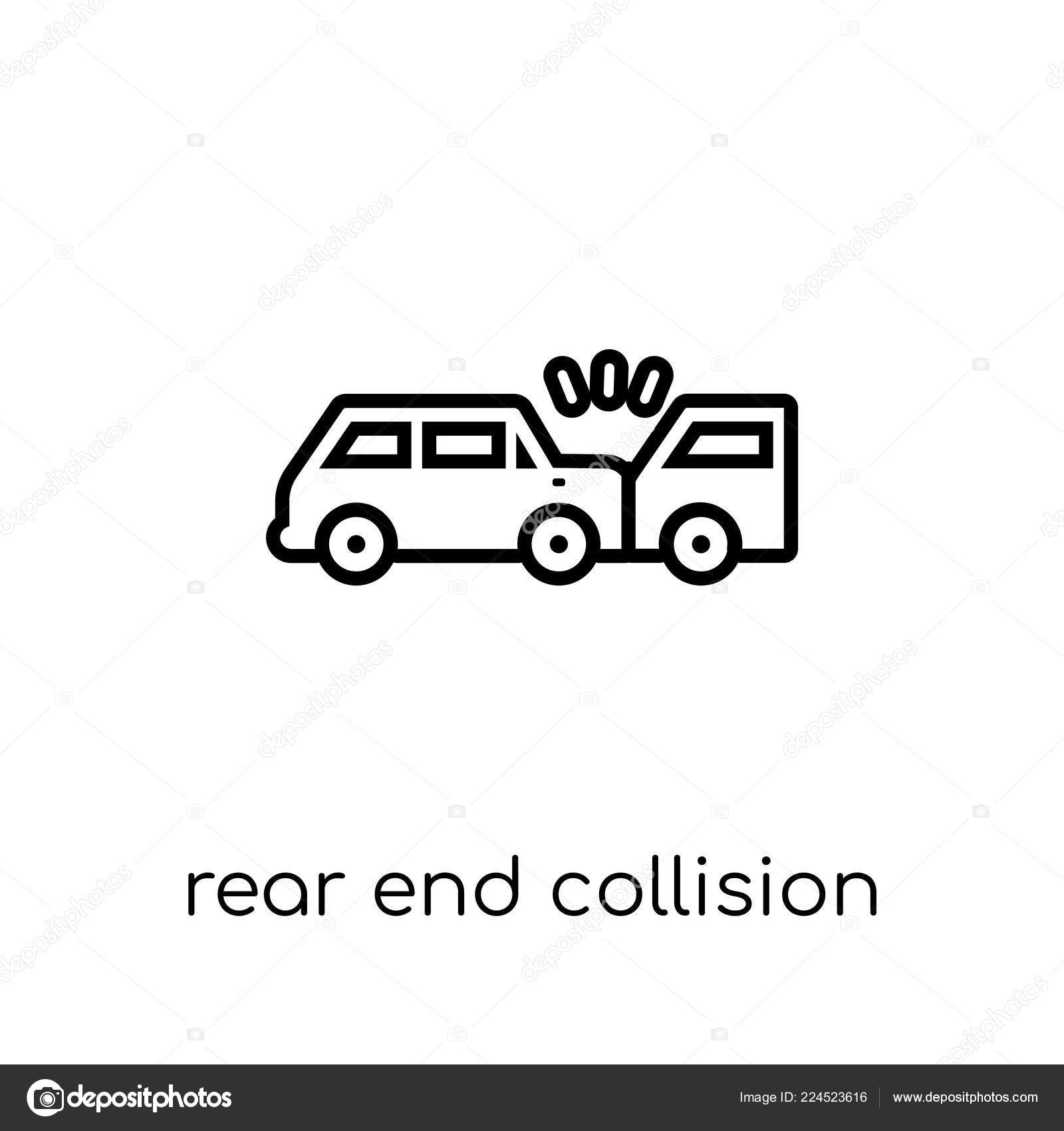 Heck Kollision Symbol Trendige Moderne Flach Linear Vector