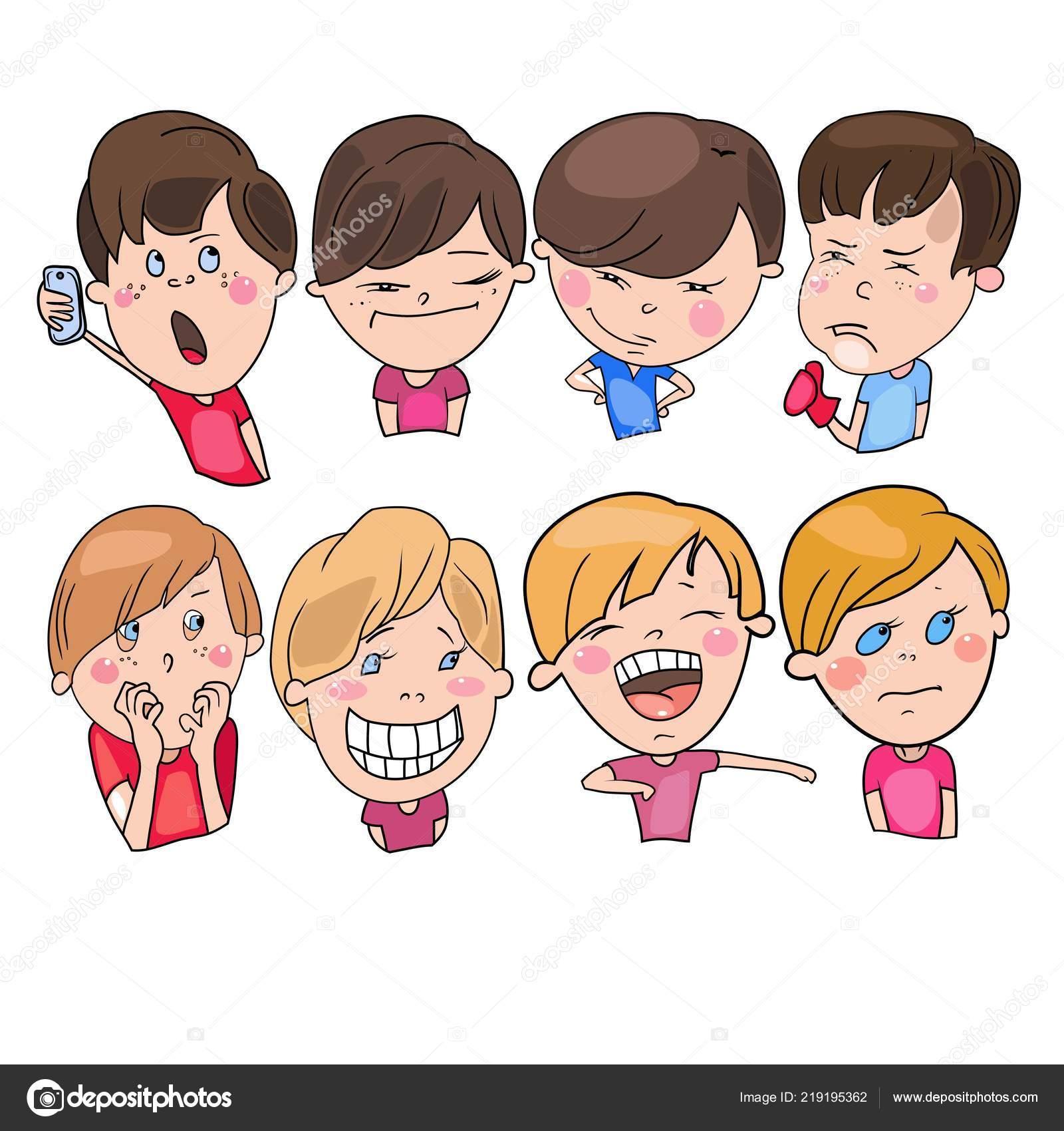 Conjunto Desenhos Vetoriais Personagens Desenhos Animados