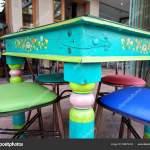 Greek Restaurant Cafe Interior Design Colorful Table Chairs Stock Photo C Johzio Yahoo Com 209679412