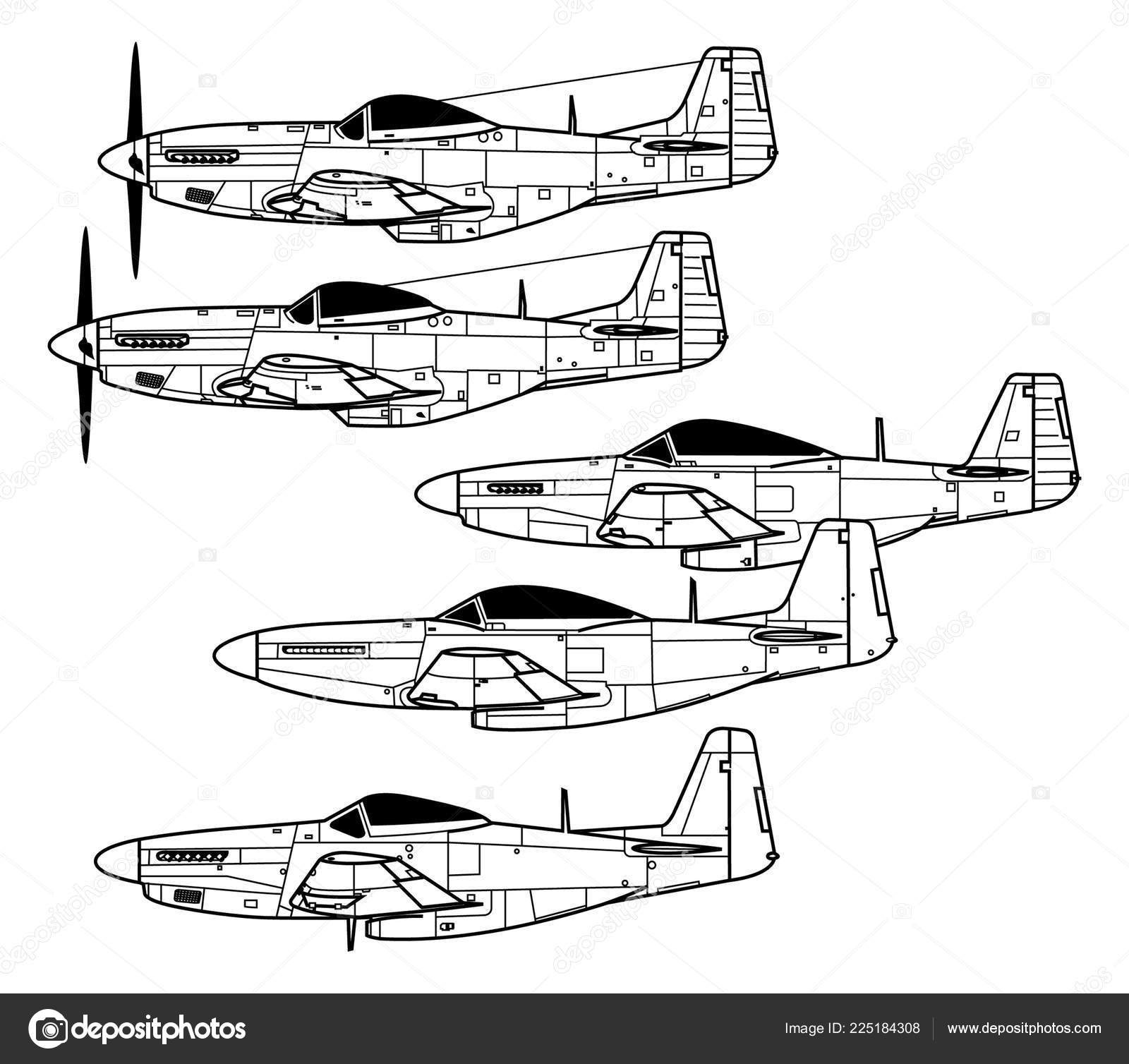 Mustang Outline Drawing