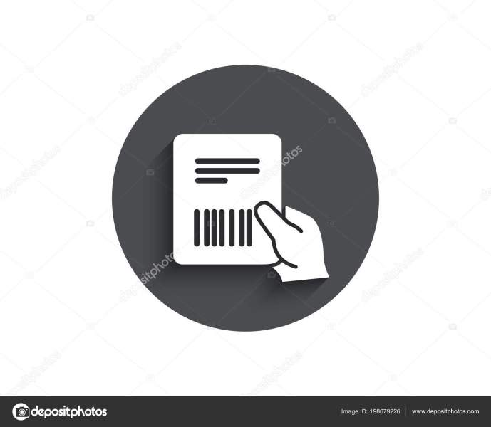 Parcel Invoice Simple Icon Delivery Document Sign Package Shipping     Parcel Invoice Simple Icon Delivery Document Sign Package Shipping Symbol      Stock Vector