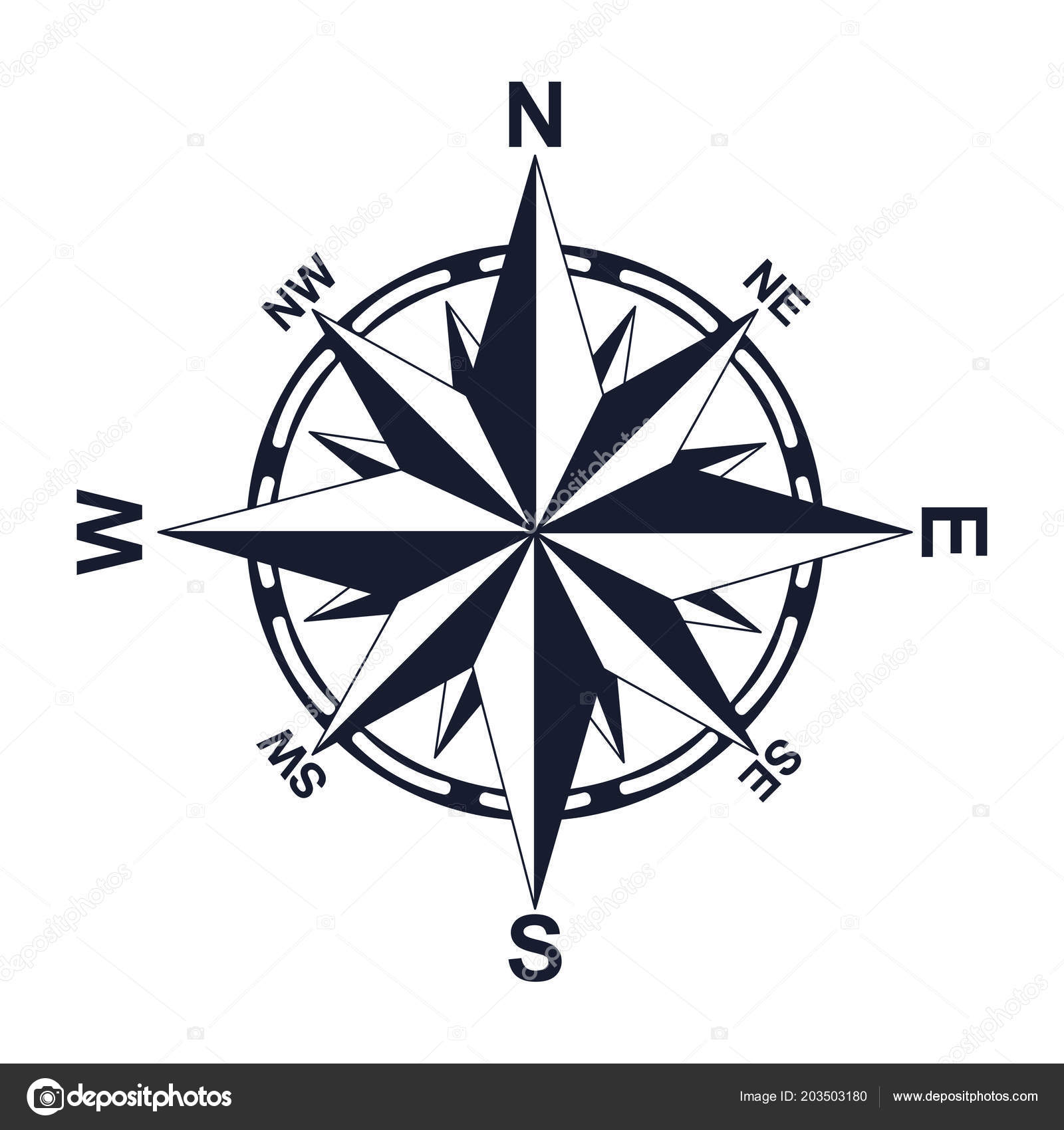 Compass. Direction. North West East South. For your design ... on ↗  id=17524