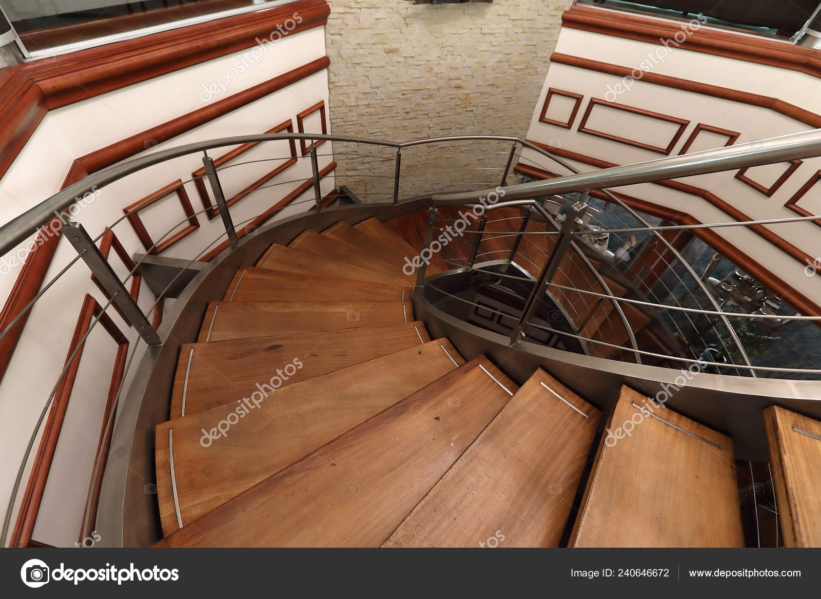 Smart Well Designed Stair Case Expensive Wood Steps Steel Frames   Steel And Wood Staircase   Steel Cable   Construction   Beautiful   New Model   Detail