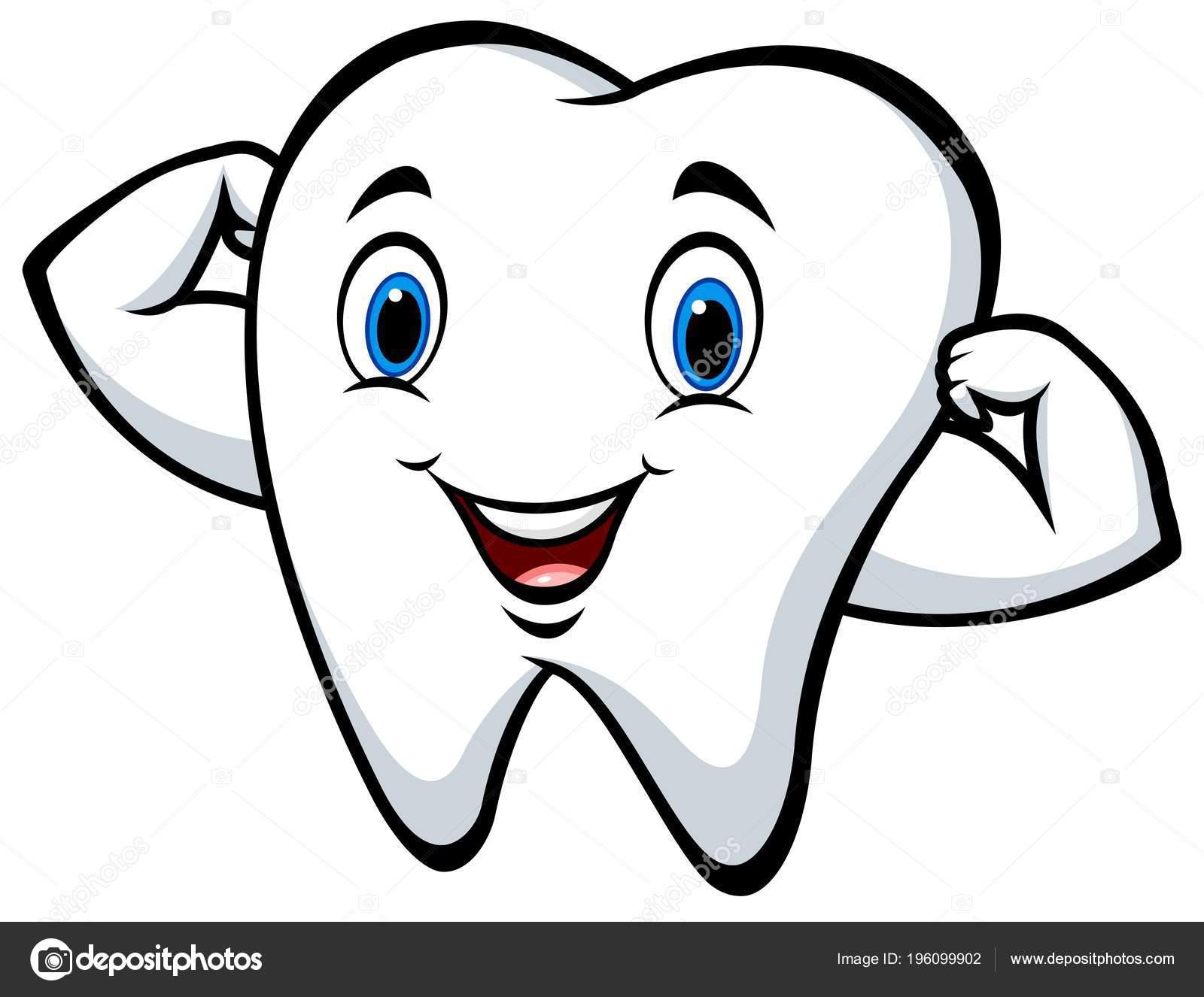 Personagem Desenho Animado Dente Forte